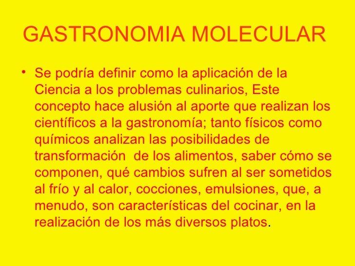 Cocina de vanguardia for Caracteristicas de la cocina molecular