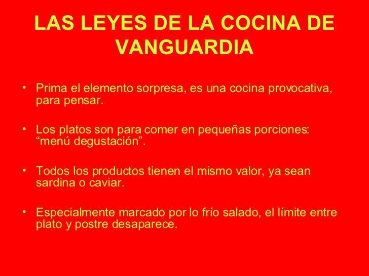 Cocina de vanguardia for Comida vanguardia