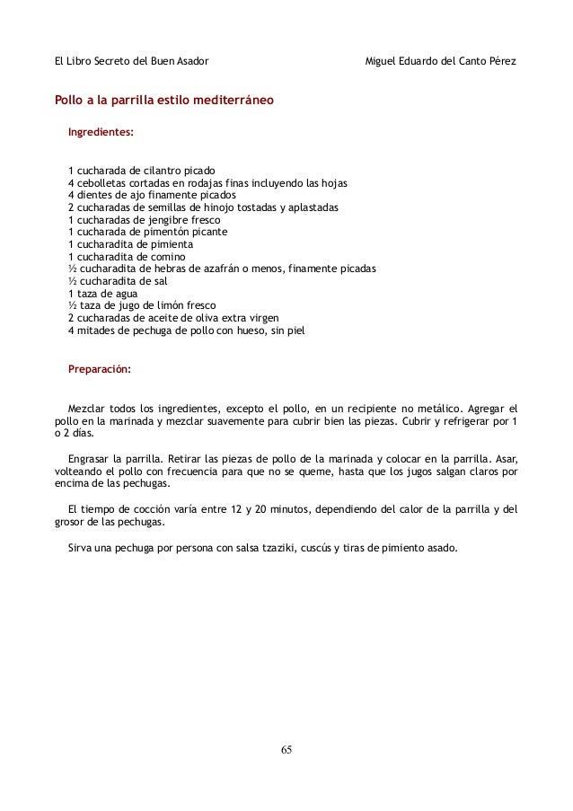 Cocina el libro de los secretos para el asador (asado, churrasco, p…
