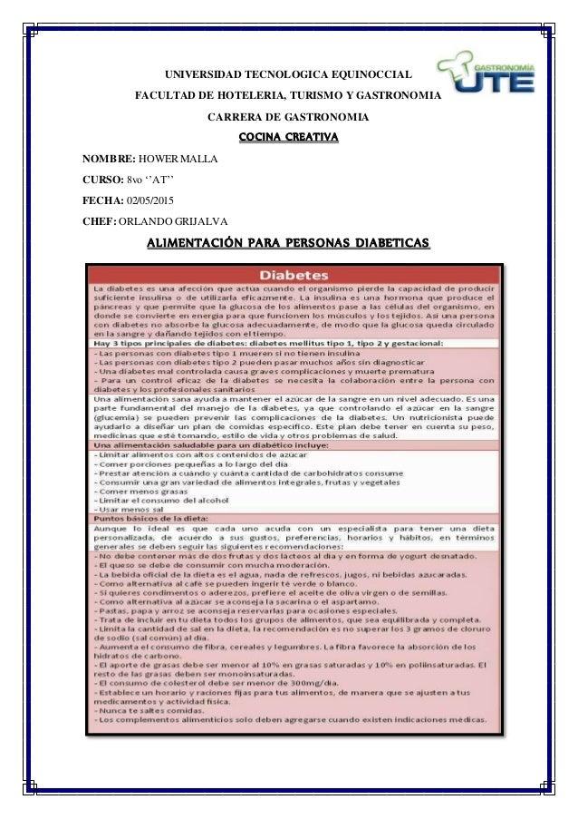 UNIVERSIDAD TECNOLOGICA EQUINOCCIAL FACULTAD DE HOTELERIA, TURISMO Y GASTRONOMIA CARRERA DE GASTRONOMIA COCINA CREATIVA NO...
