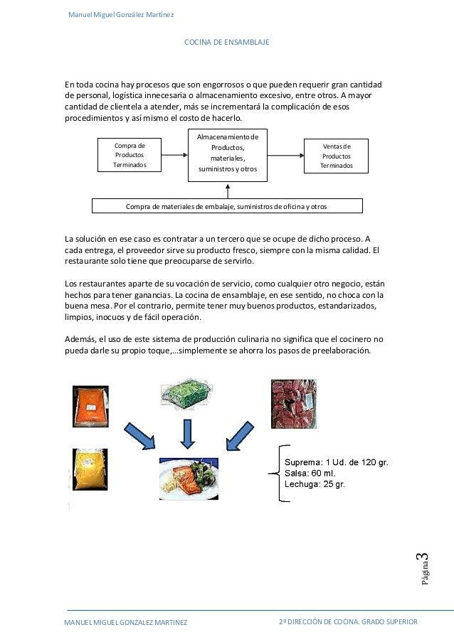 Cocina de ensamblaje ejemplo de proyecto de plan de negocio for Procedimiento de cocina