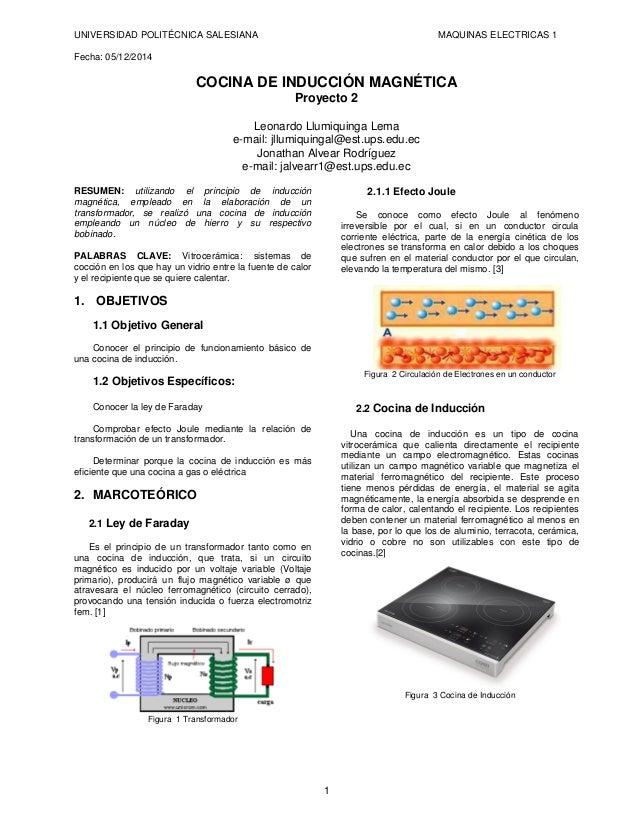 principio de funcionamiento de una cocina de induccion
