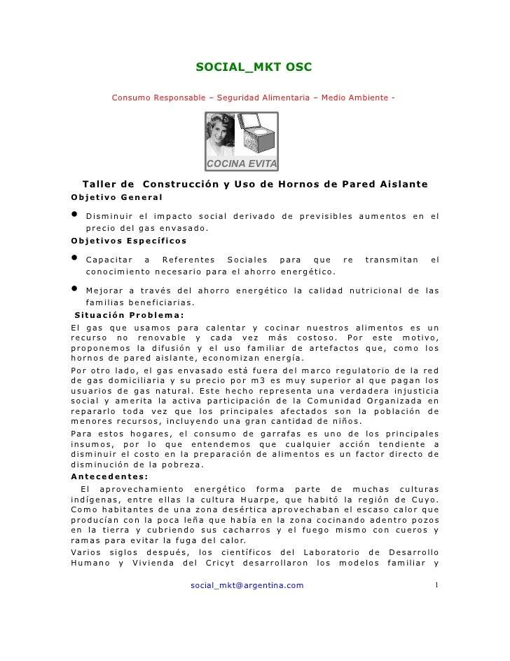 SOCIAL_MKT OSC            Consumo Responsable – Seguridad Alimentaria – Medio Ambiente -                                  ...