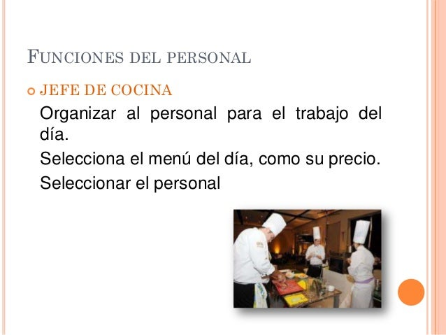 Cocina hotelera for Definicion de cocina