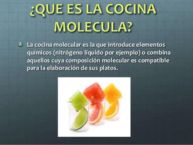 cocina molecular On en que consiste la gastronomia