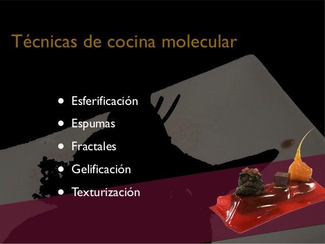 Cocina molecular novadors for Tecnicas de cocina molecular