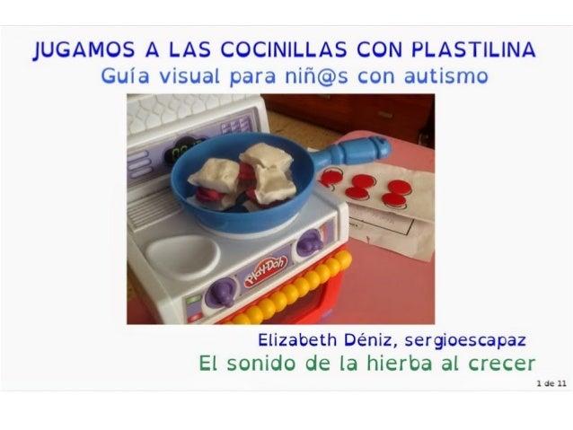 """JUGAMOS A LAS COCINILLAS CON PLASTILINA Guía visual para niñ@s con autismo  .  _ I """" ' i '  4 15""""? '  .  fi  ) +> t J .  J..."""