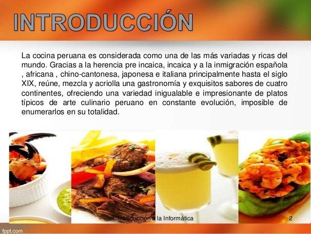 Cocina peruana for Cocina peruana de vanguardia