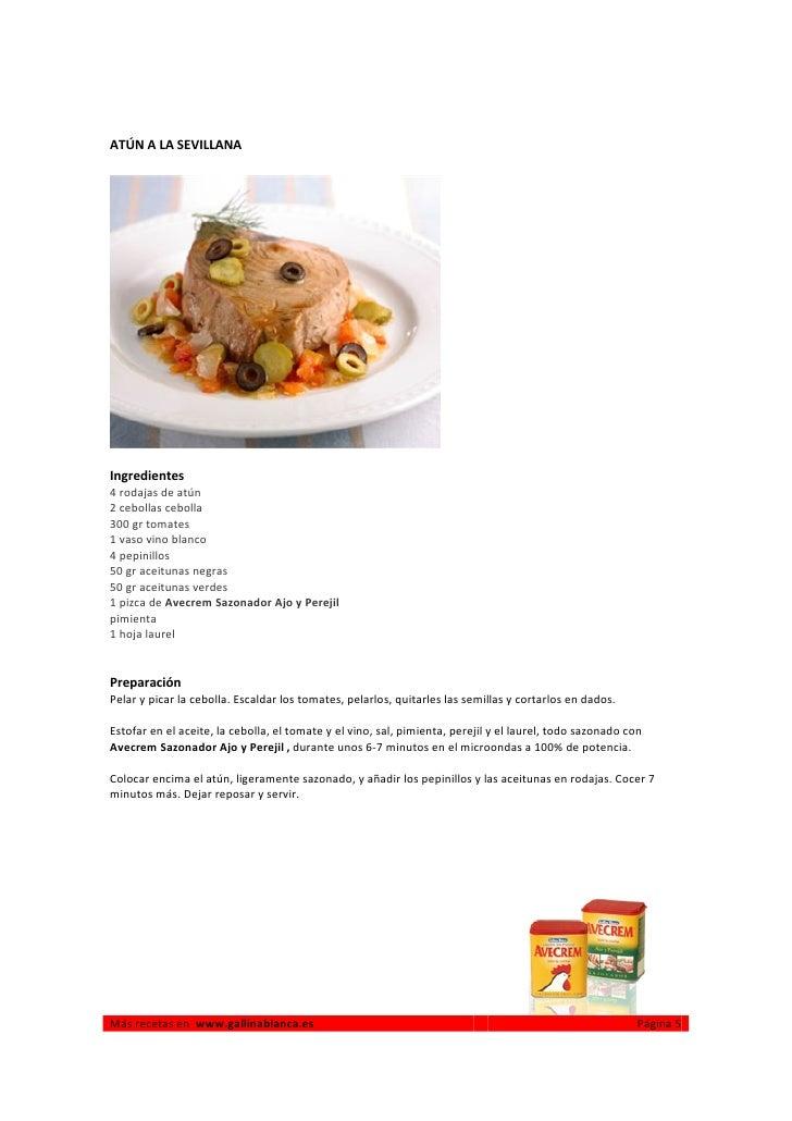 Cocinar con microondas gallina blanca for Cocinar con 5 ingredientes