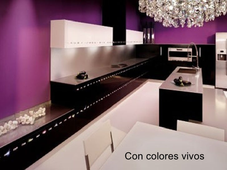 Cocinas - Cocinas con colores vivos ...