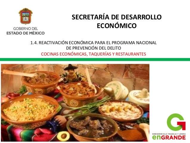 Apoyo a cocinas económicas edomex PRONAPRED - INADEM 2013