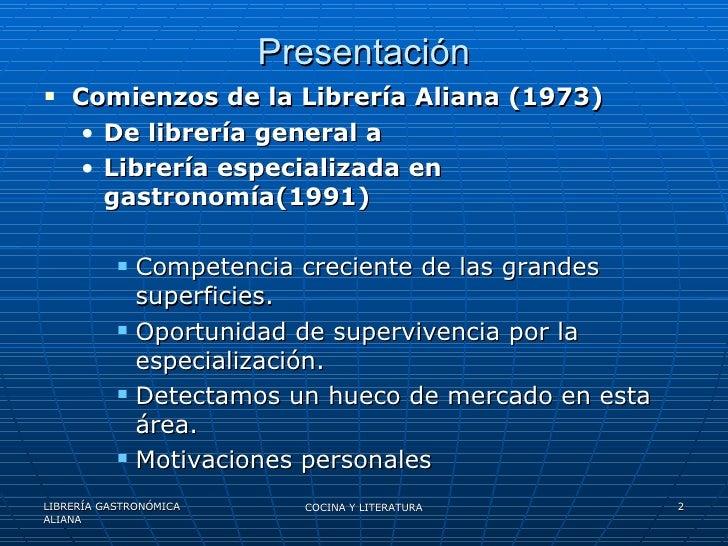 Cocina y literatura - Libreria aliana ...