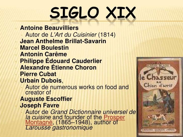 SIGLO XX▫   Gaston Acurio        •   Michael Chiarello▫   Chef Wan             •   Pierre Gagnaire▫   Ferran Adrià        ...