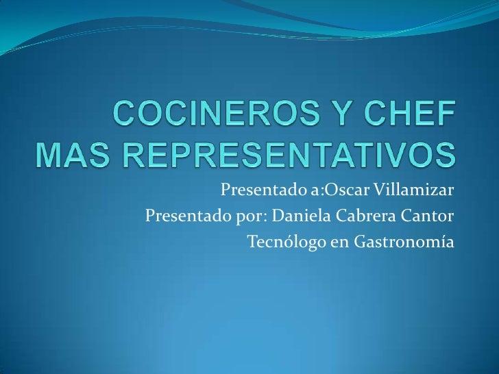 Presentado a:Oscar VillamizarPresentado por: Daniela Cabrera Cantor            Tecnólogo en Gastronomía