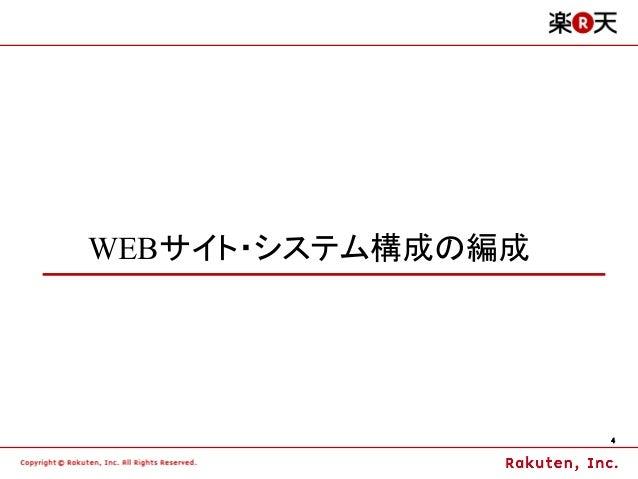 WEBサイト・システム構成の編成                   4