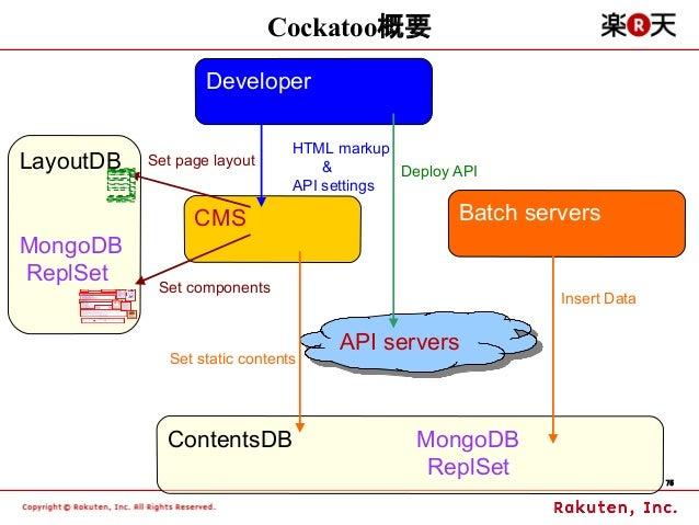 Cockatoo概要                   Developer                                HTML markupLayoutDB   Set page layout          &    ...