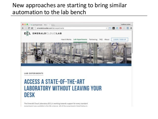 New approaches are starting to bring similar automation to the lab bench