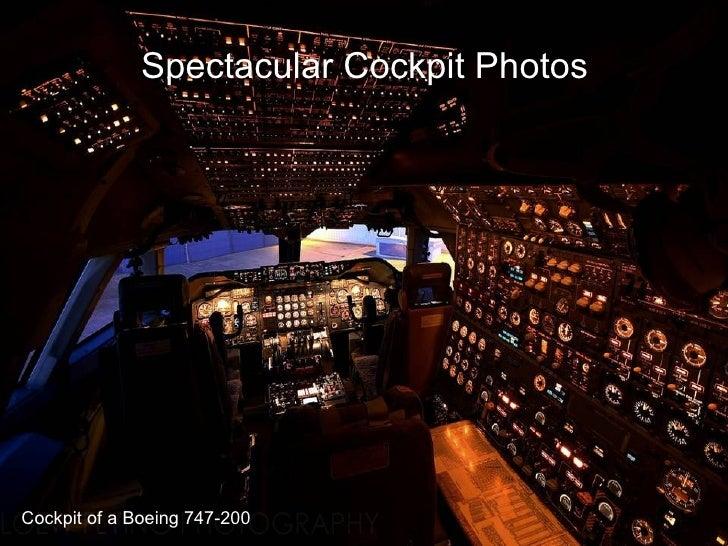 Spectacular Cockpit Photos  Cockpit of a Boeing 747-200