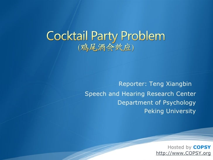 <ul><ul><li>Reporter: Teng Xiangbin   </li></ul></ul><ul><ul><li>Speech and Hearing Research Center Department of Psycholo...