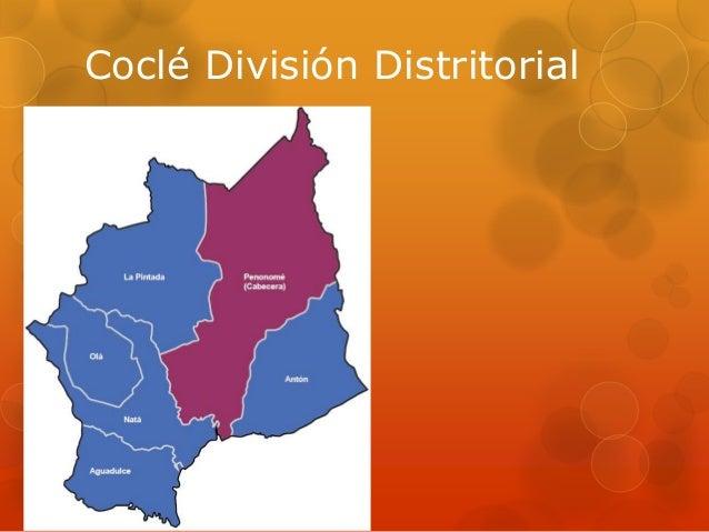 Coclé División Distritorial