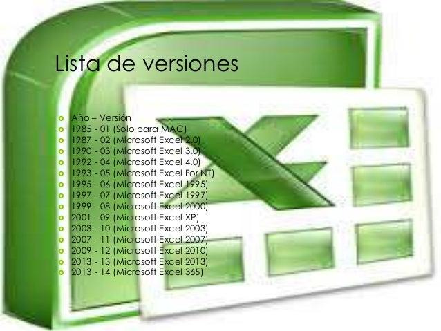 Excel Historia