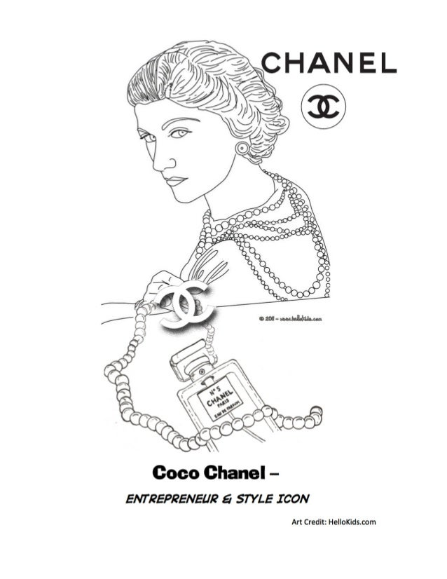 Coloring Page Maya Angelou. Coco chanel coloring page final