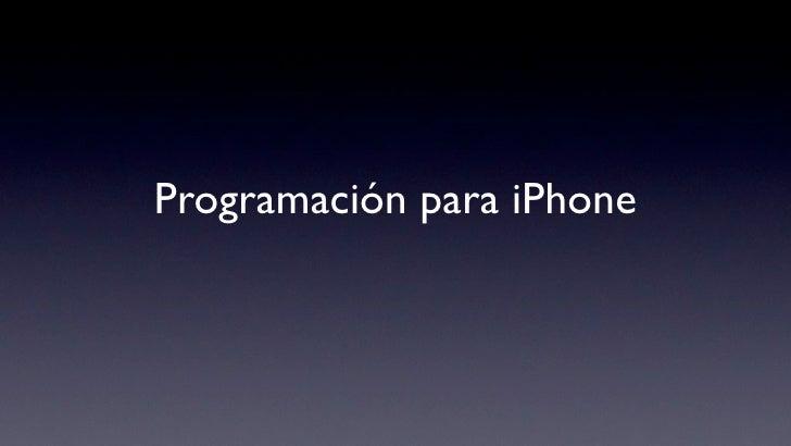 Programación para iPhone