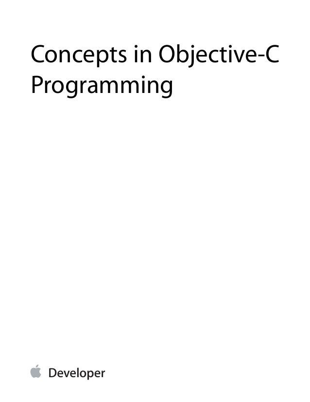 Concepts in Objective-CProgramming