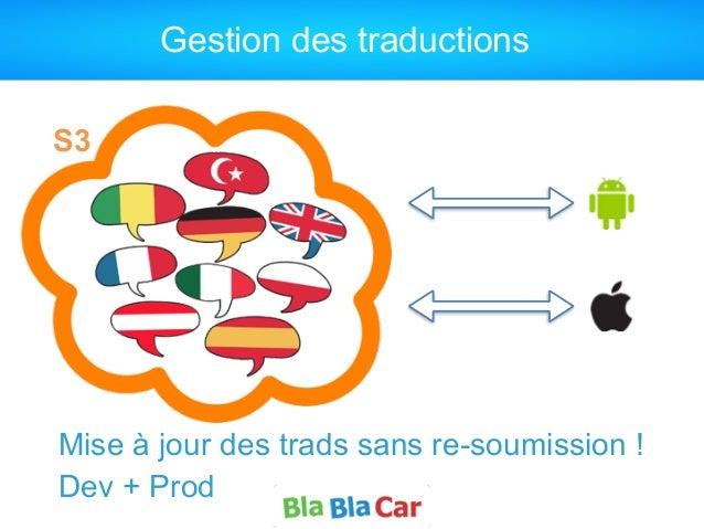Gestion des traductions Mise à jour des trads sans re-soumission ! Dev + Prod S3