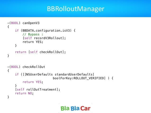 BBRolloutManager -(BOOL) canOpenV3 { if (BBDATA.configuration.isV3) { // Bypass : [self recordV3Rollout]; return YES; }  ...