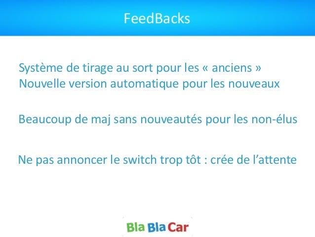 FeedBacks Système  de  tirage  au  sort  pour  les  «  anciens  »   Nouvelle  version  automatique...