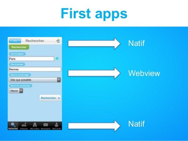 First apps Natif Webview Natif