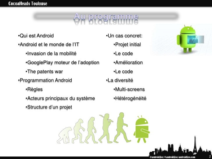 CocoaHeads An Android Overview (fr) Slide 2