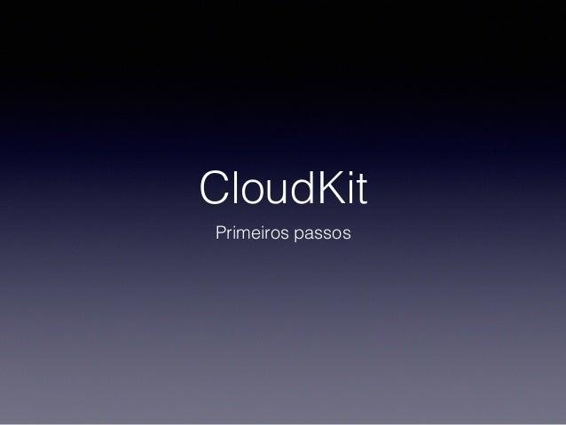 CloudKit Primeiros passos