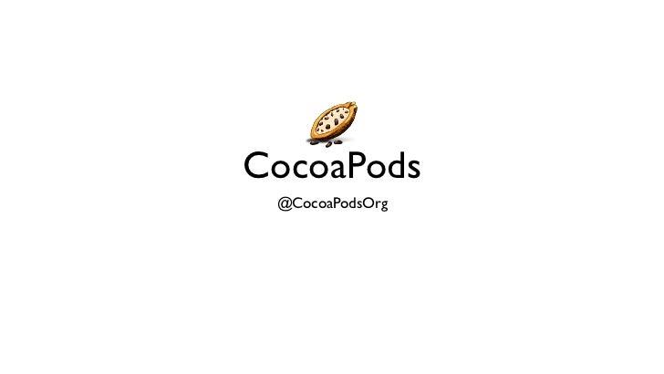 CocoaPods @CocoaPodsOrg