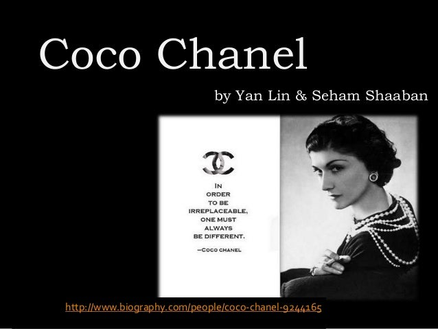 bio and impact coco chanel No coco chanel was the best fashion desinger ever world becauseshe what impact did coco channel have on the world view bio hide bio experts you.