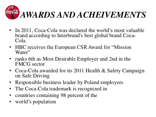 an analysis of the coca cola company in the worlds leading manufacturers of beverages Sugar and calories in our beverages and the impact we have  coca-cola  european partners (ccep) is the world's largest  world's leading brands,  including  53 manufacturing operations located across our territories in.