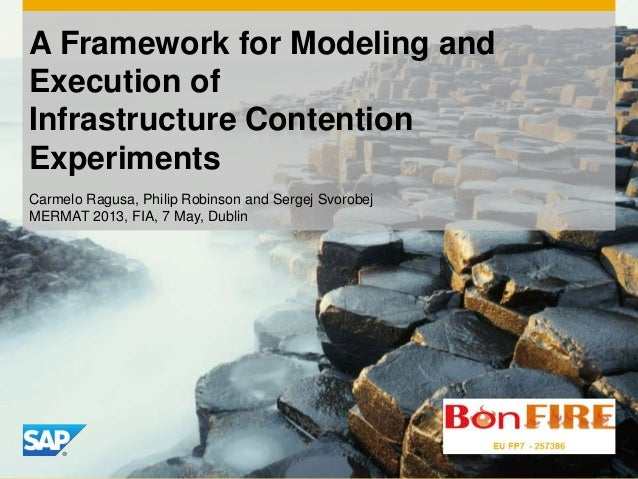 A Framework for Modeling and Execution of Infrastructure Contention Experiments Carmelo Ragusa, Philip Robinson and Sergej...