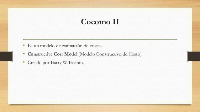 Cocomo II Slide 2