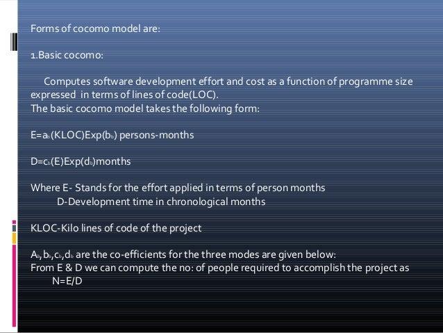 Cocomo model Slide 3