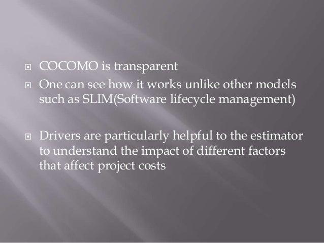 DISADVANTAGES OF    COCOMO81