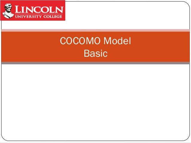 COCOMO Model Basic