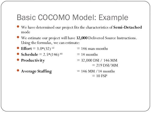 Cocomo model 12 basic cocomo model ccuart Images