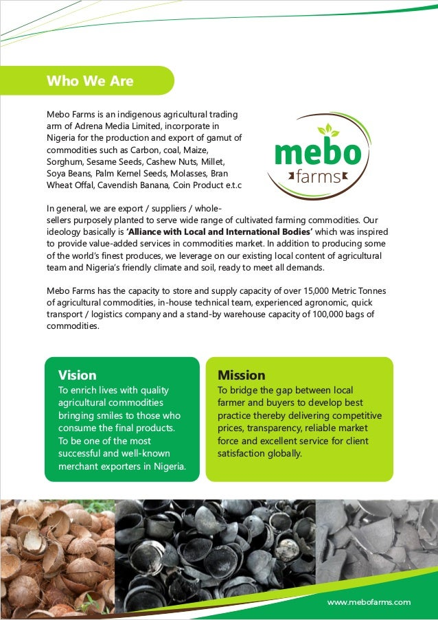 Coconut shell charcoal mebo farms commodities