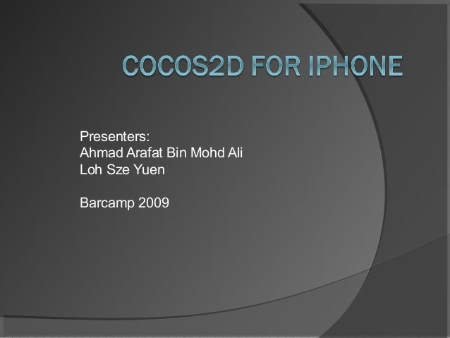 Presenters:Ahmad Arafat Bin Mohd AliLoh Sze YuenBarcamp 2009