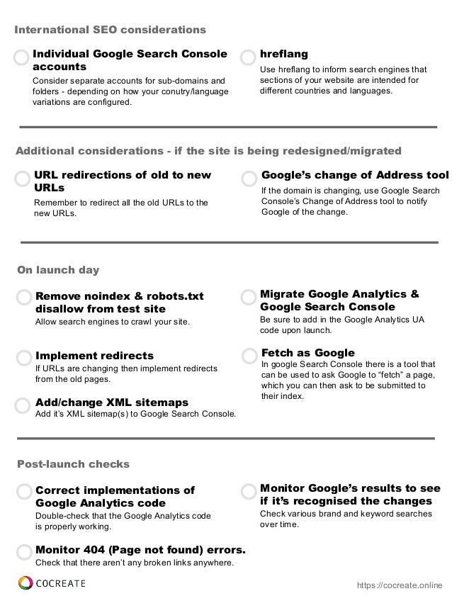 list of technical seo factors that will most likely affect most websi