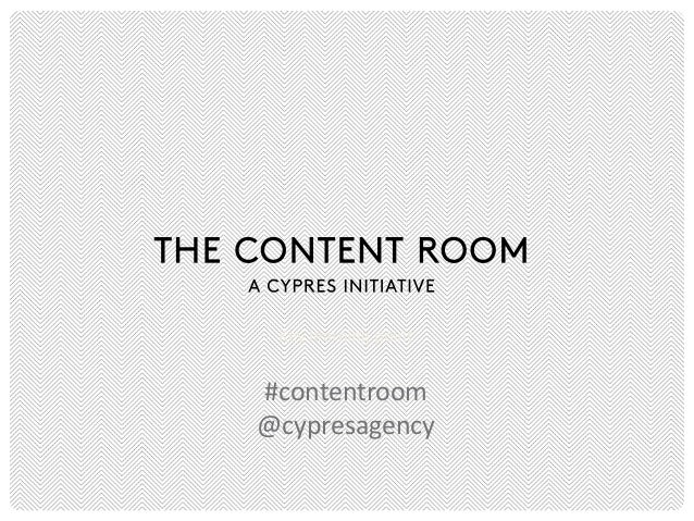 Key learning point  #contentroom @cypresagency
