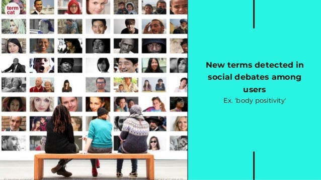 New terms detected in social debates among users Ex. 'body positivity'