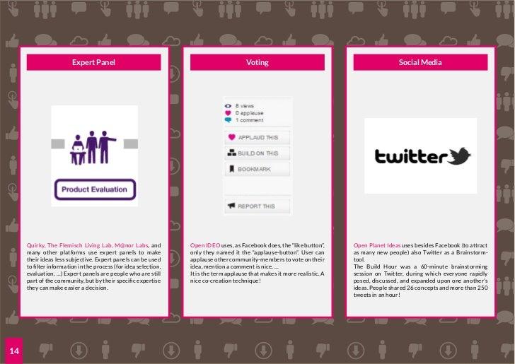 BENCHMARKSstudy of 20 co-creation platforms                        image: CC Flickr -Twicepix