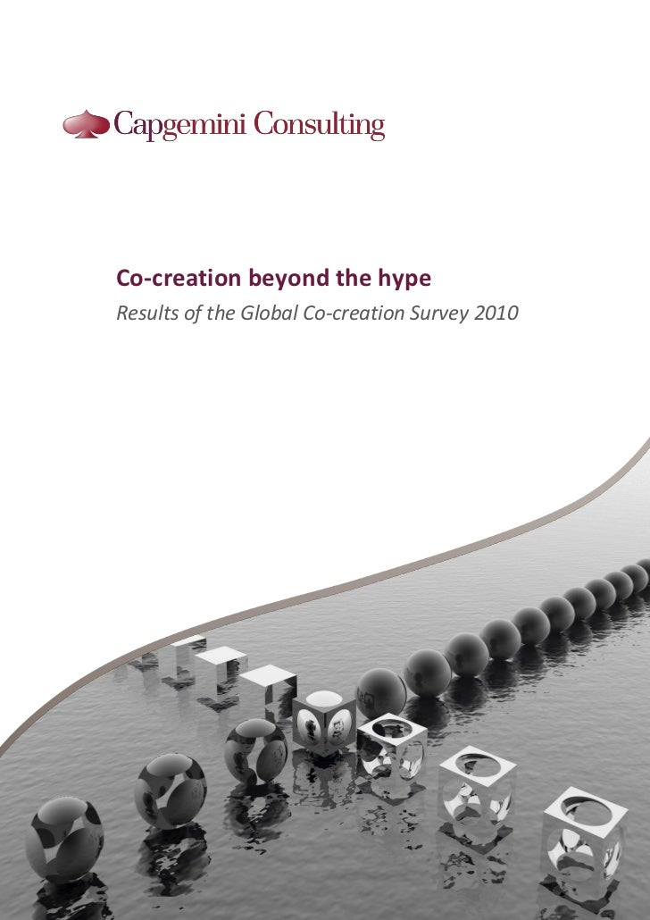 Co-creation beyond the hypeResults of the Global Co-creation Survey 2010